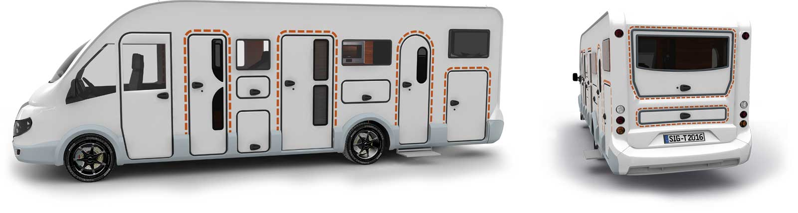 Satisfied tegos customers with bwheelchair-accessible caravans and RVs